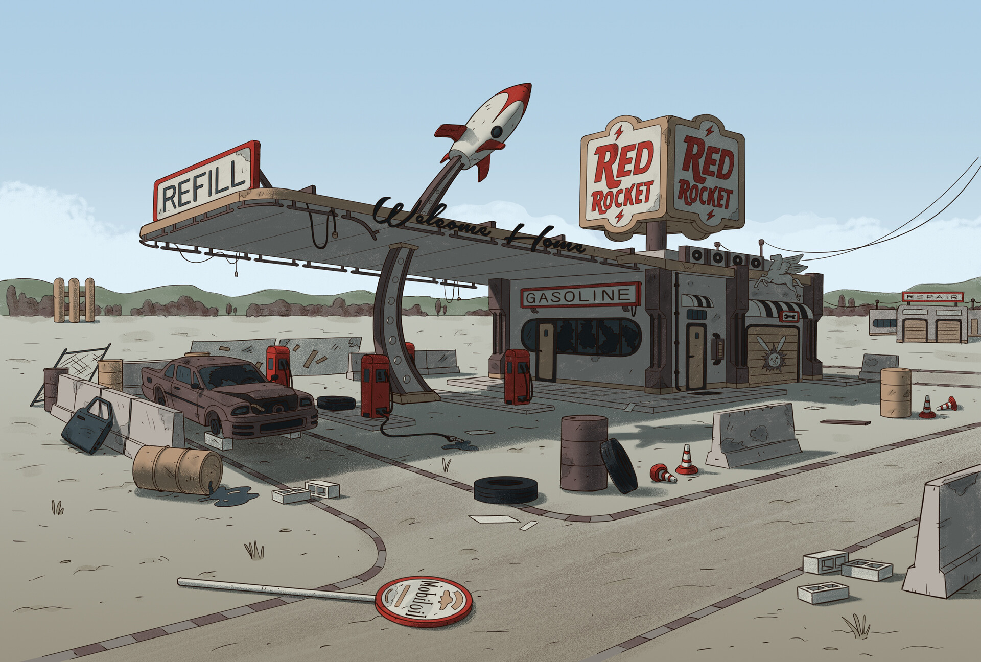 Edgaras cernikas red rocket gas station variant c