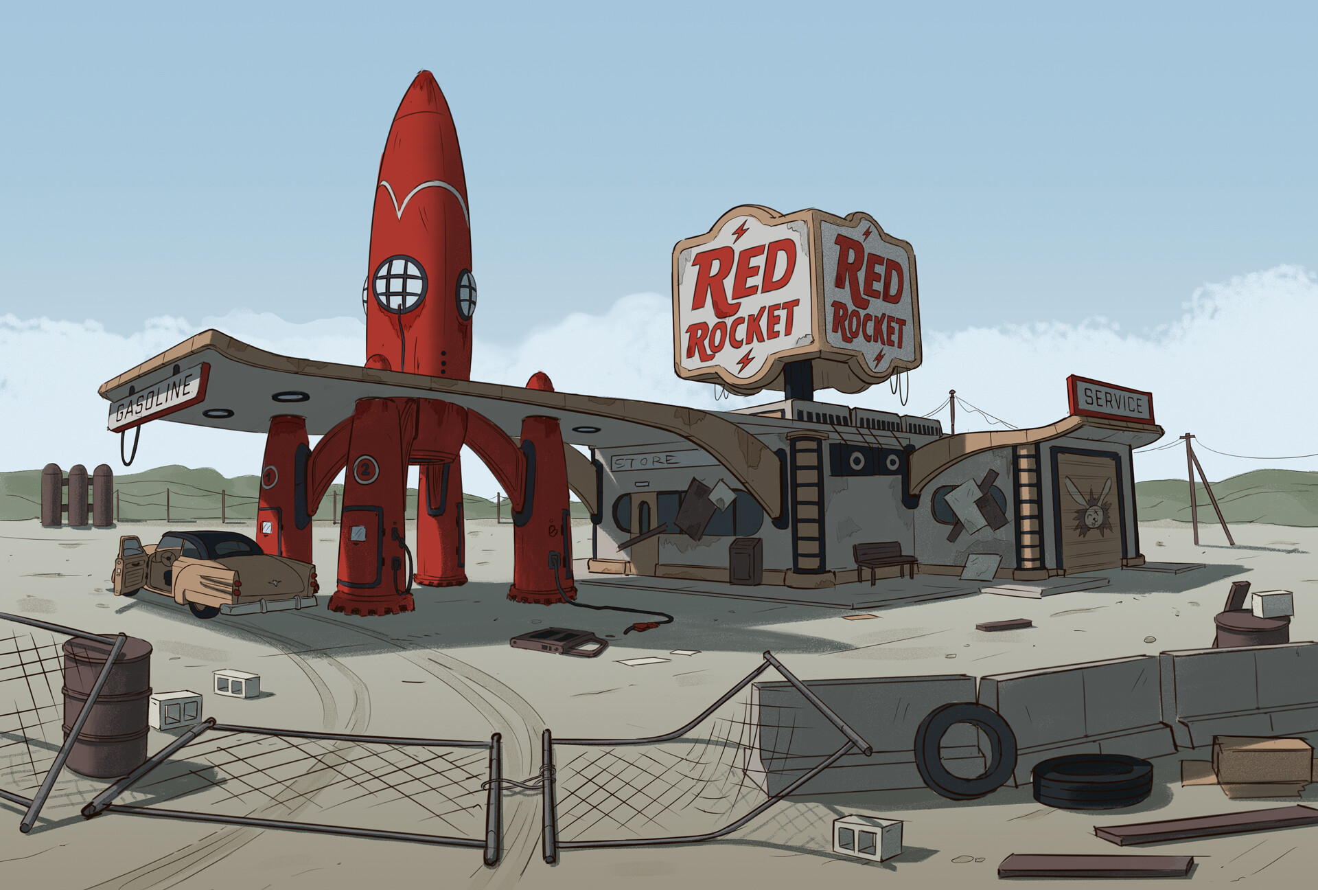 Edgaras cernikas red rocket gas station variant d