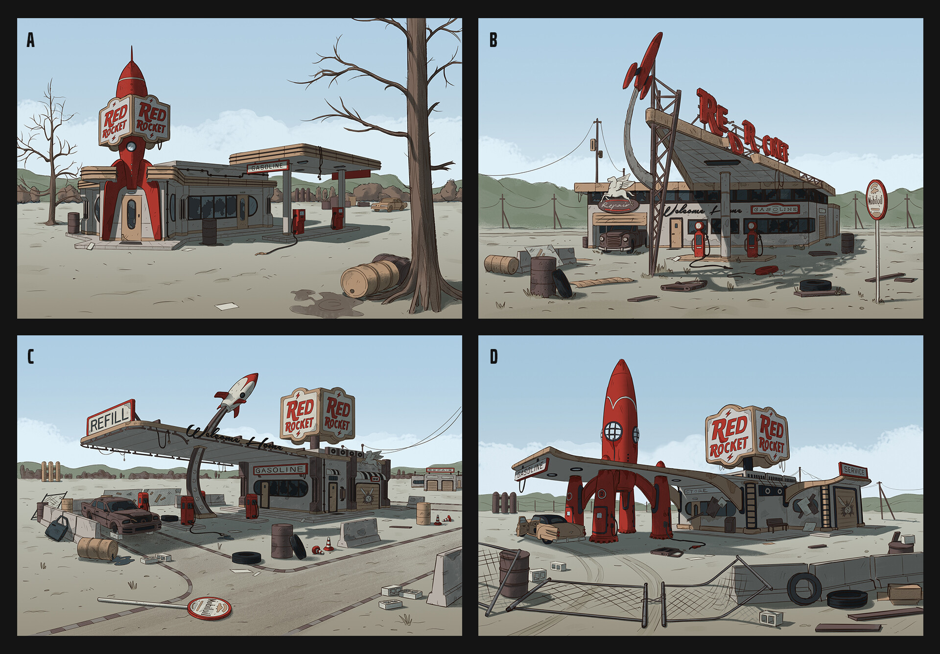 Edgaras cernikas red rocket gas station variants