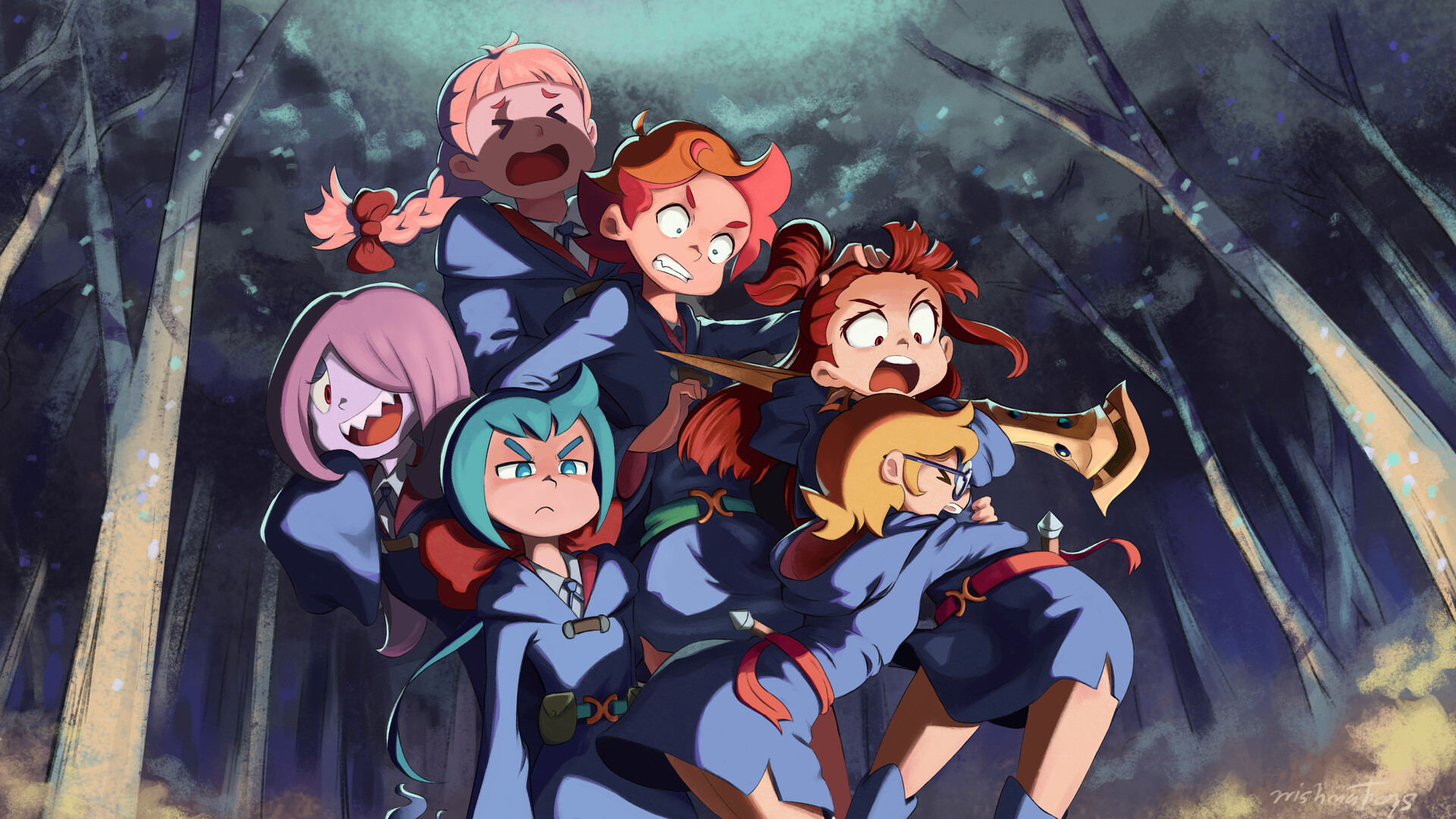 Artstation Little Witch Academia Fanart Wishman Toys