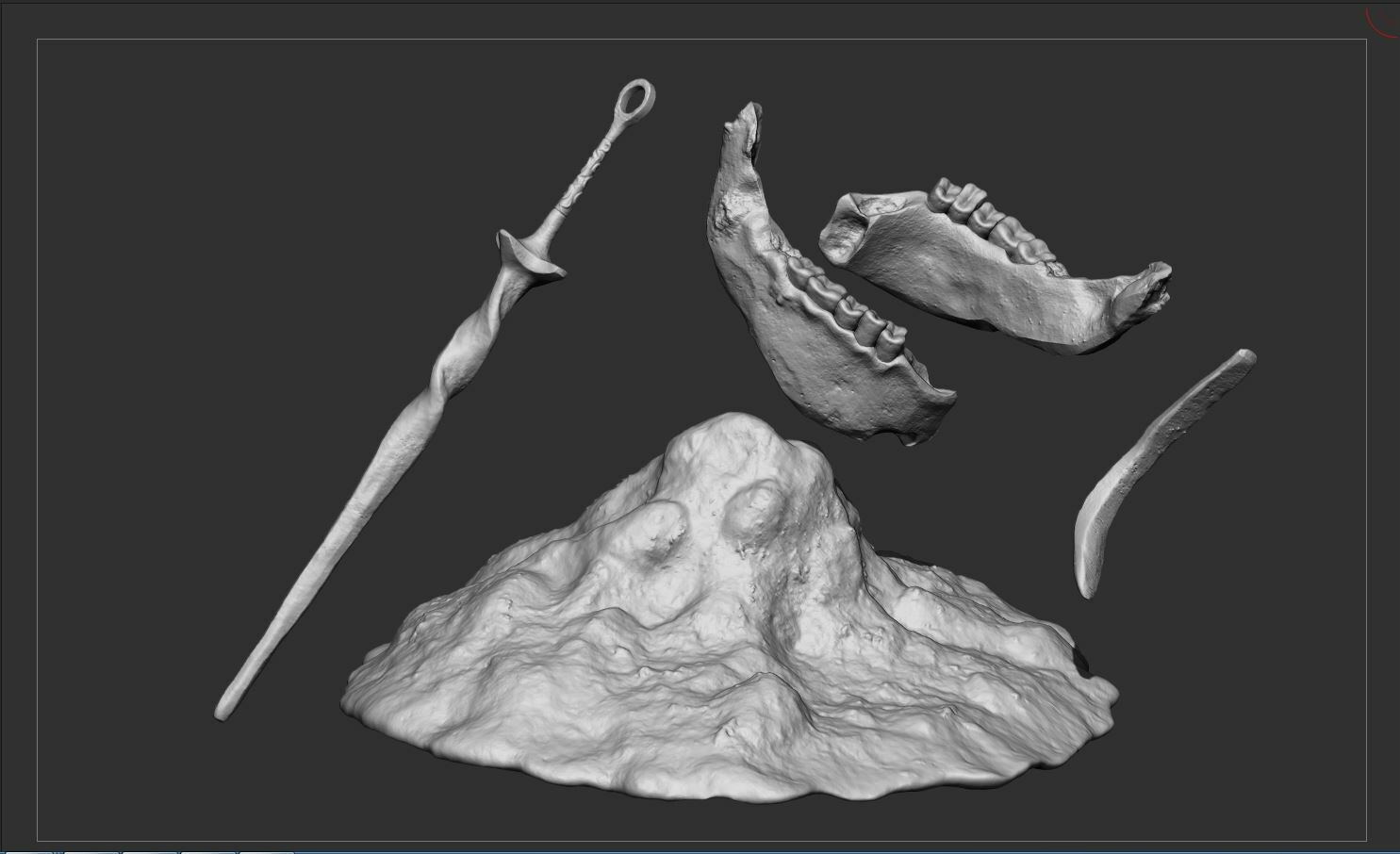 Zbrush Hi-Poly of the Environment