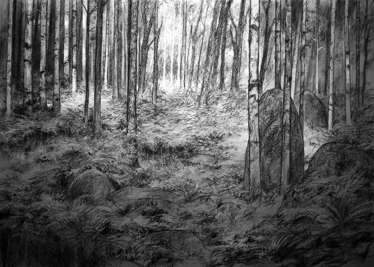 Adrian smith boar scenic bg drawing