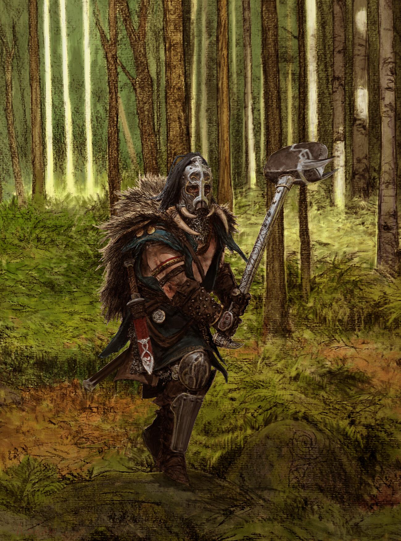 Adrian smith boar warrior colour lo