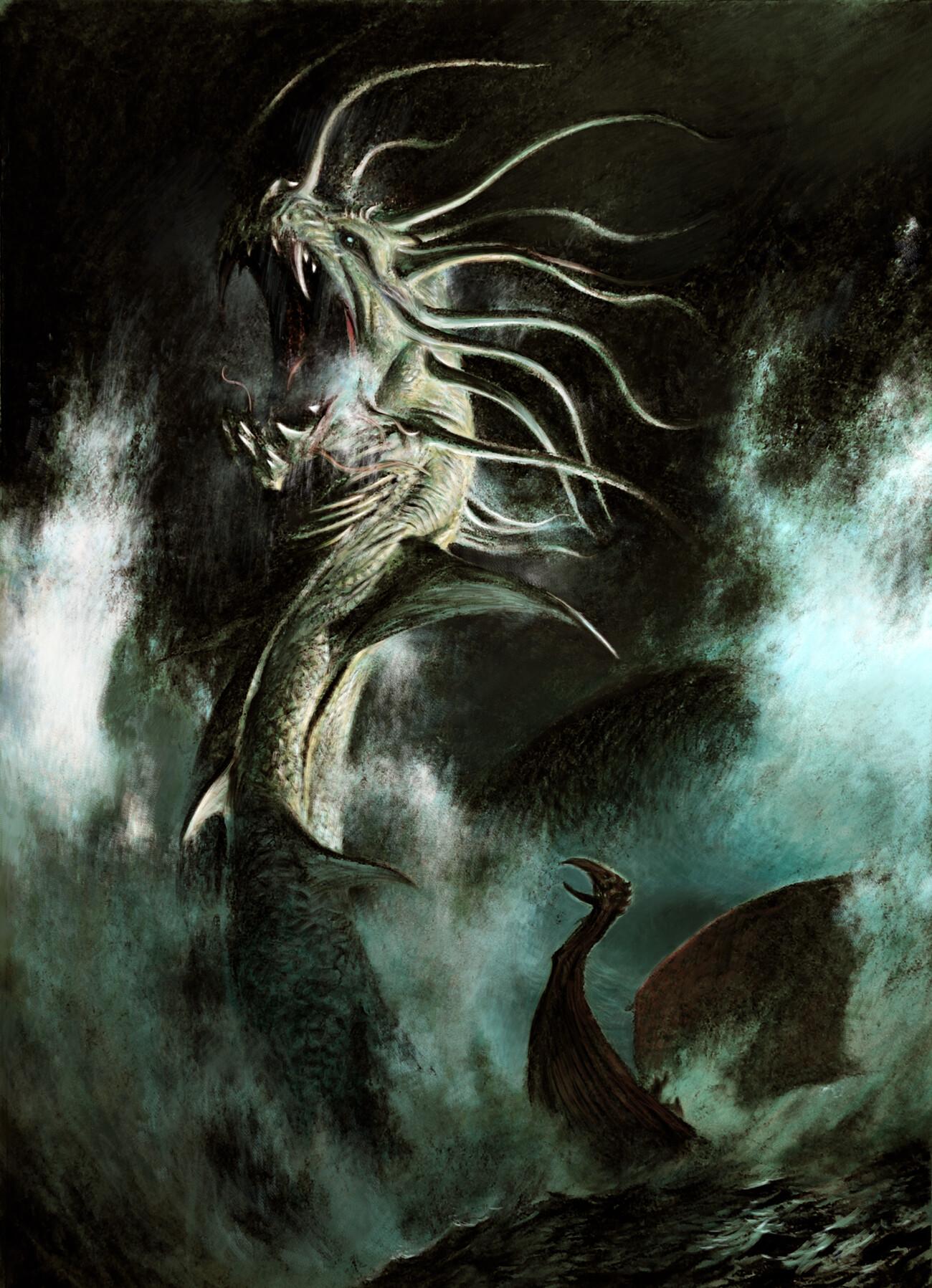 Adrian smith sea serpent illo colour lo