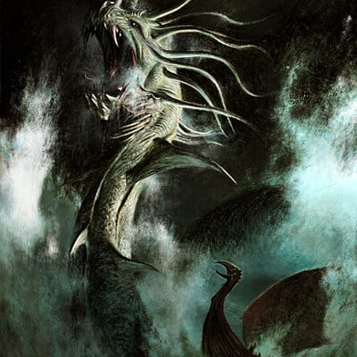 Adrian smith sea serpent illo colour lo