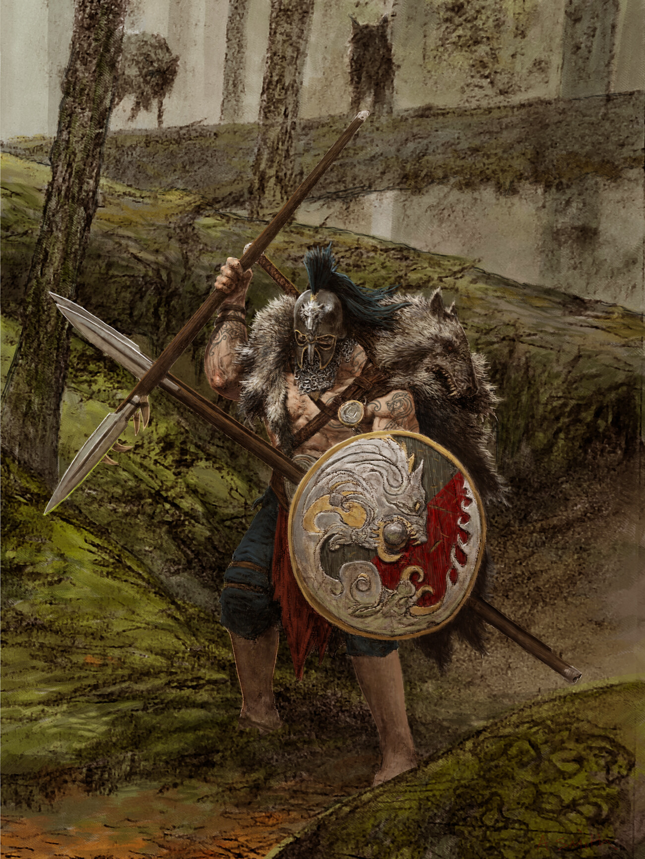 Adrian smith wolf warrior colour lo