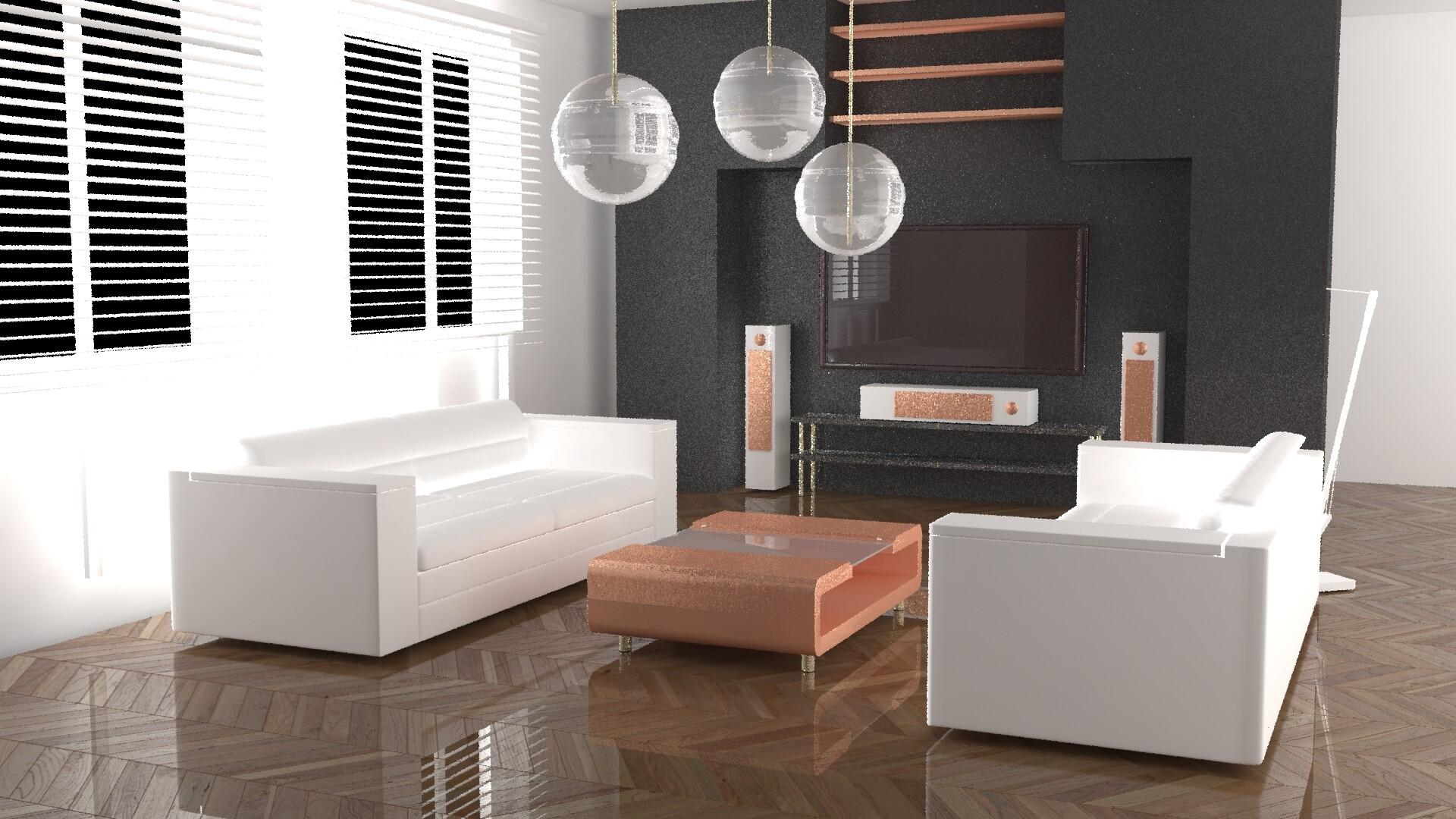 ArtStation - Modern chic living room, HIMEUR Mehdi