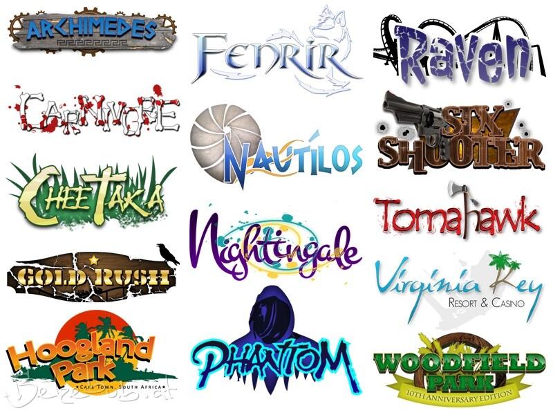 Artstation Theme Park Logo Designs David W