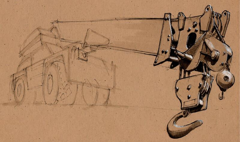 Crane | Ink & Markers