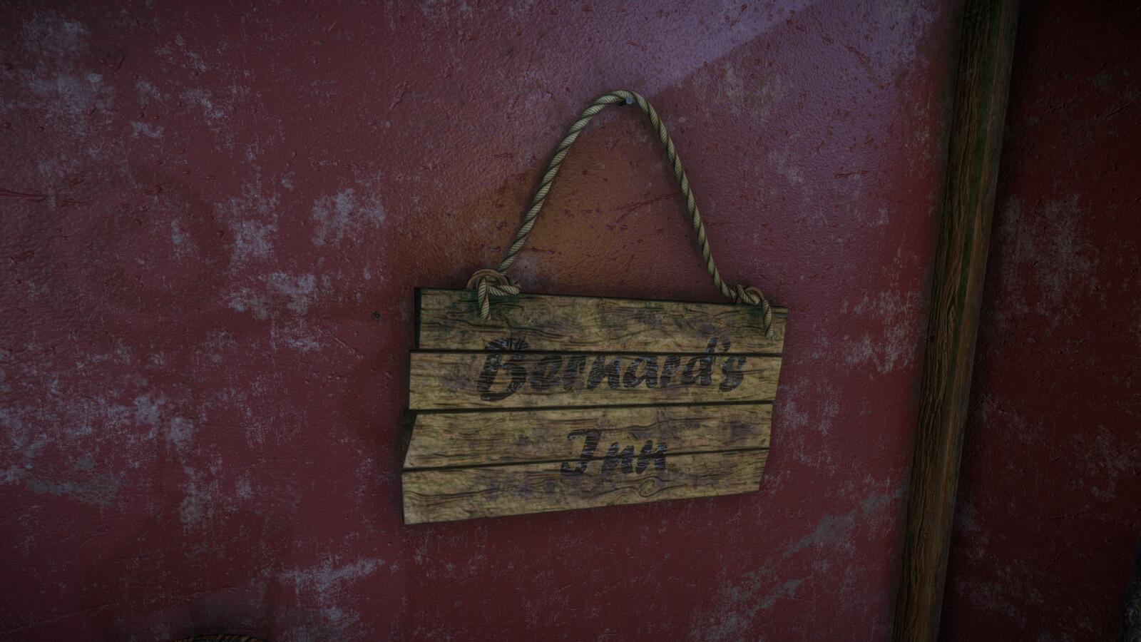 Bernard's Inn Sign (Night).