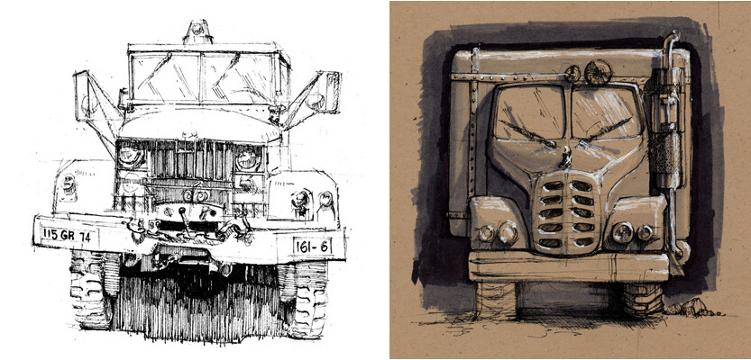 Trucks | Ink & Markers