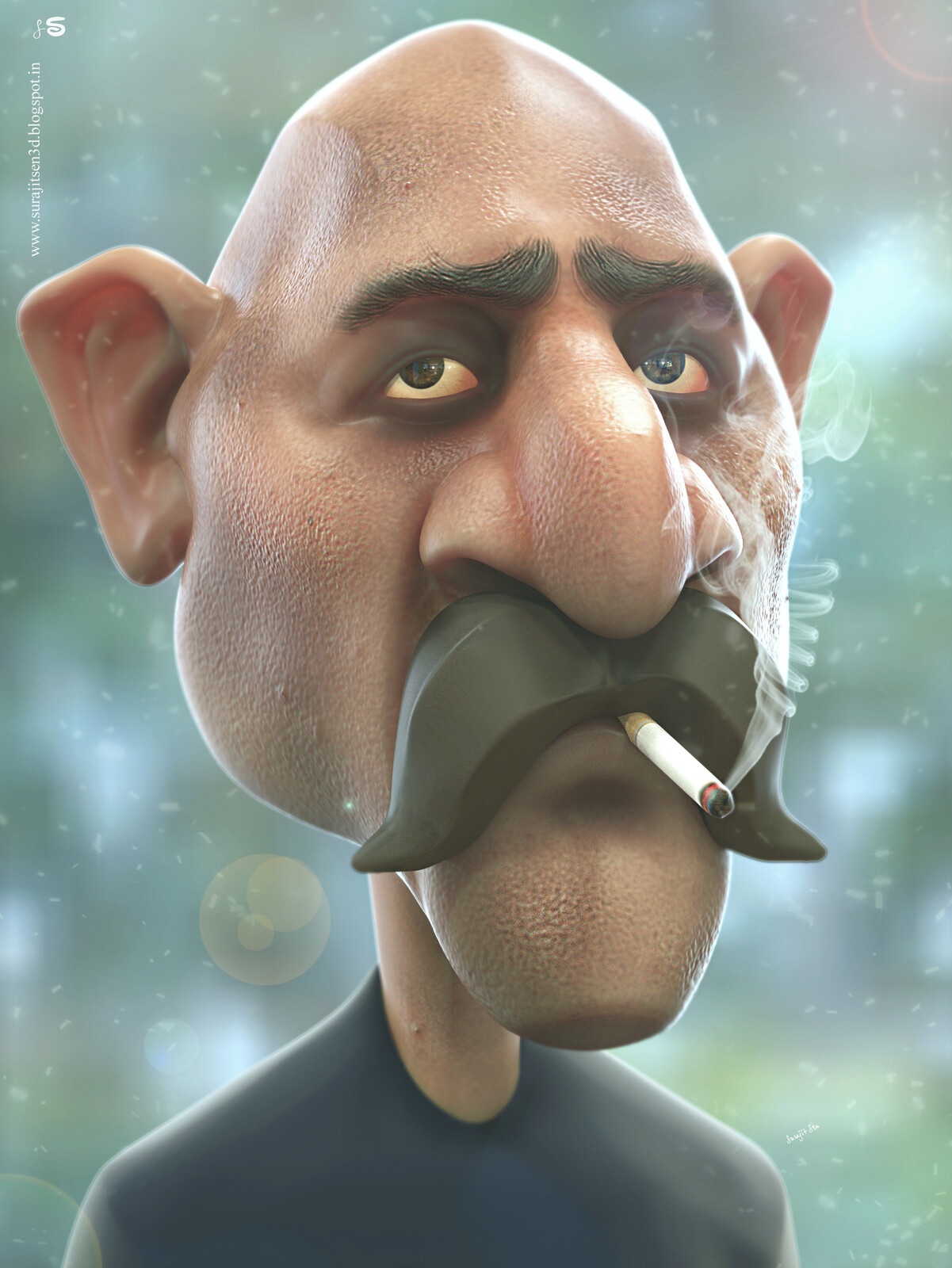 My weekend speed sculpt study. Fun with brushes…