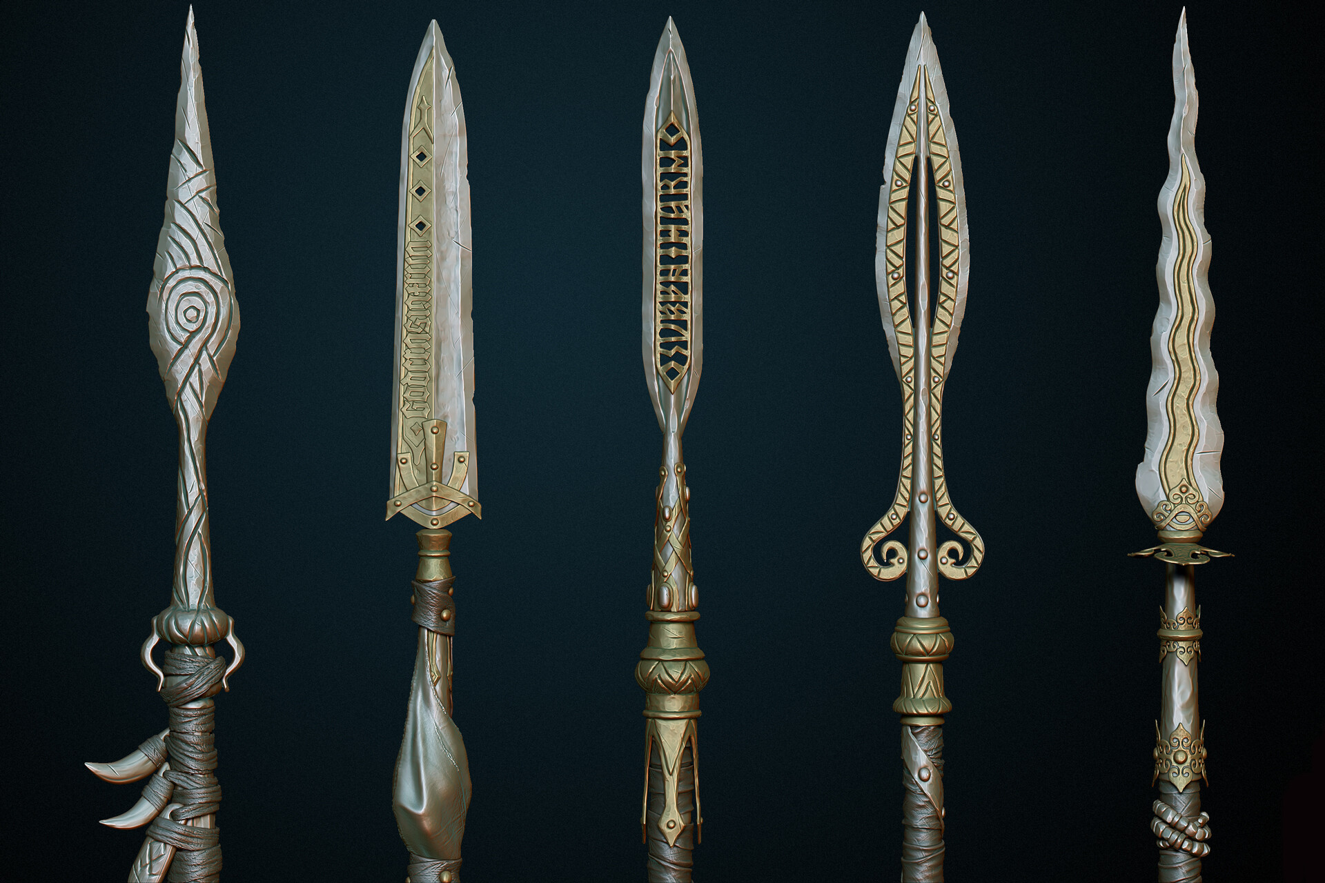 ArtStation - Medieval spear, Dmitrii Plotnikov