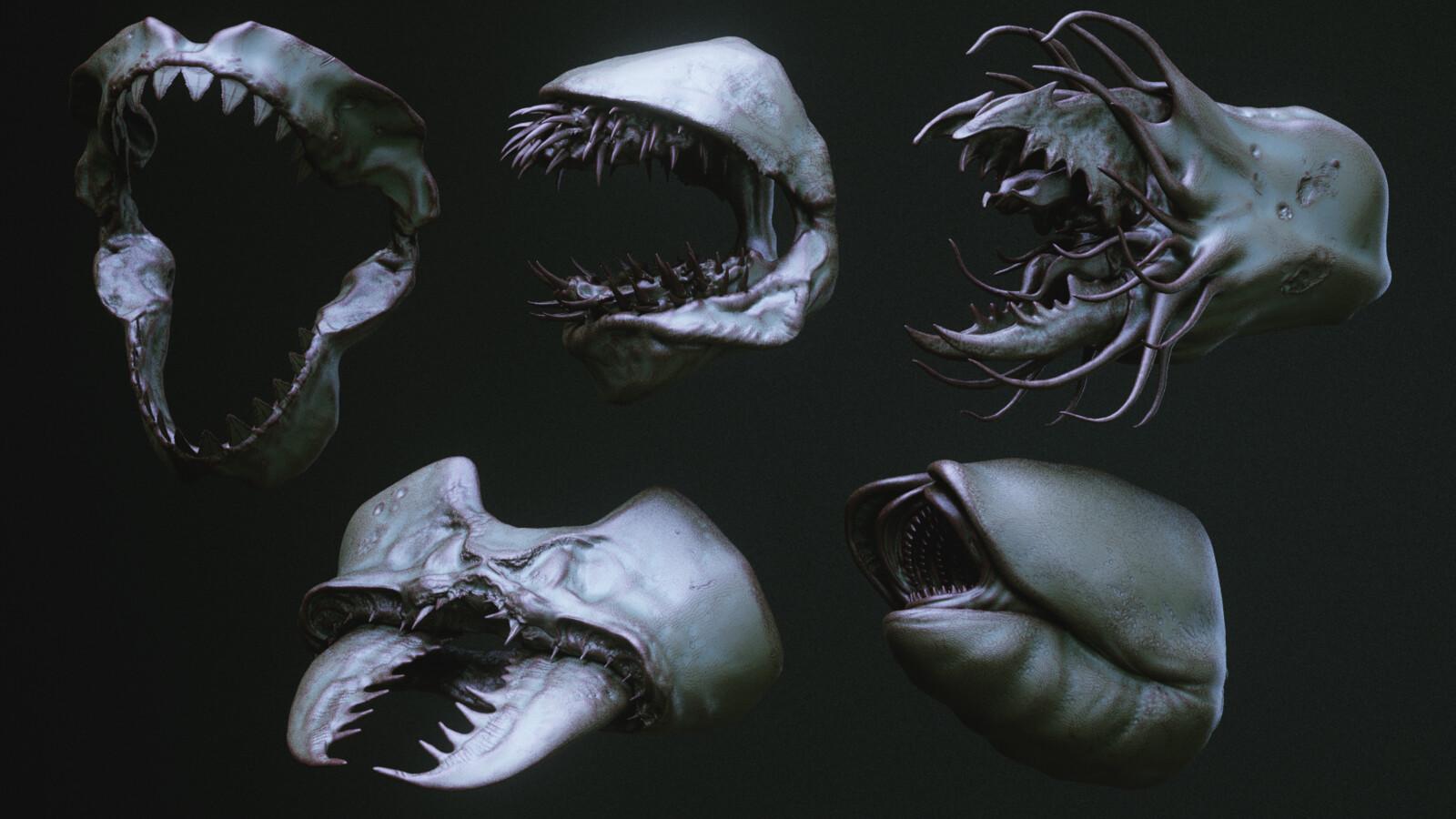 Jaws ■ Ripmaw ■ Camarach ■ Antoid ■ Worm (Bonus version)