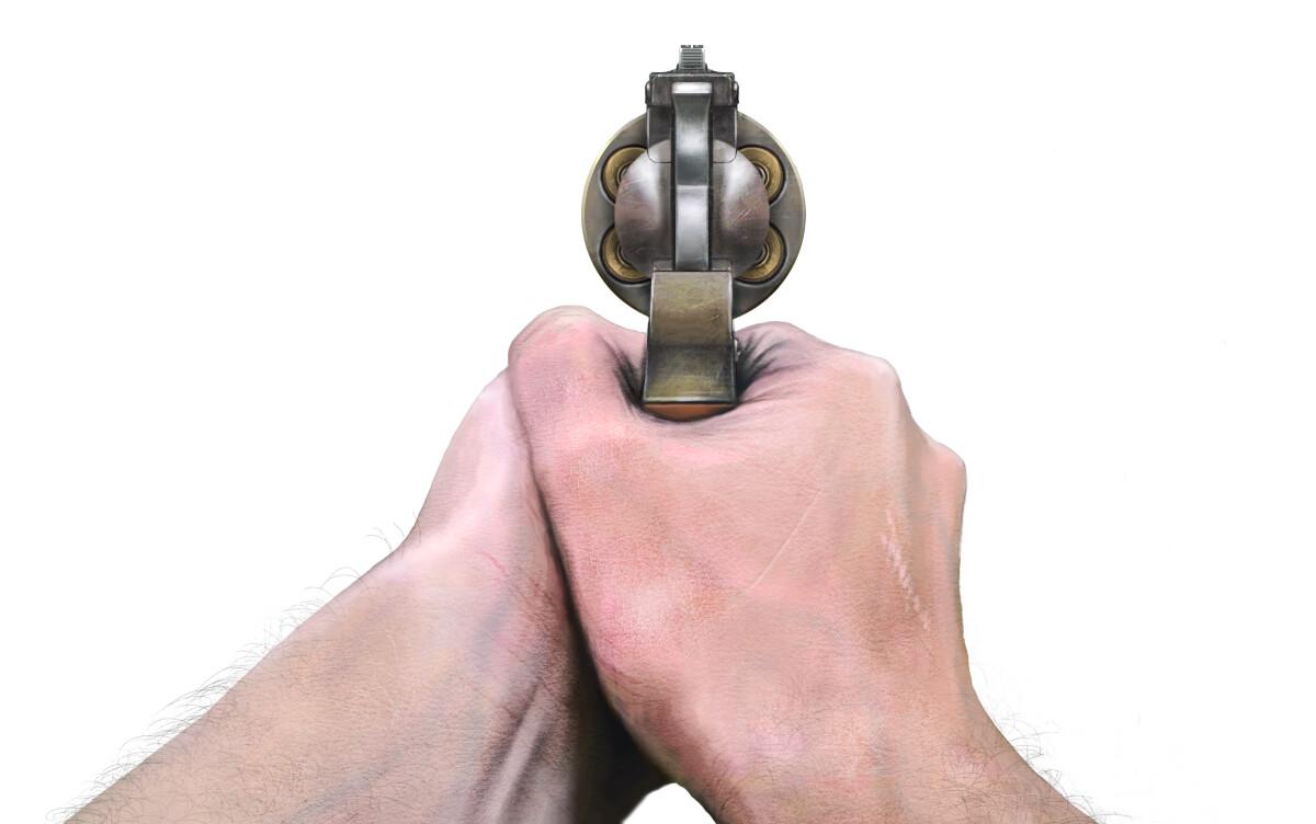 Julian vidales hand gun all bullets