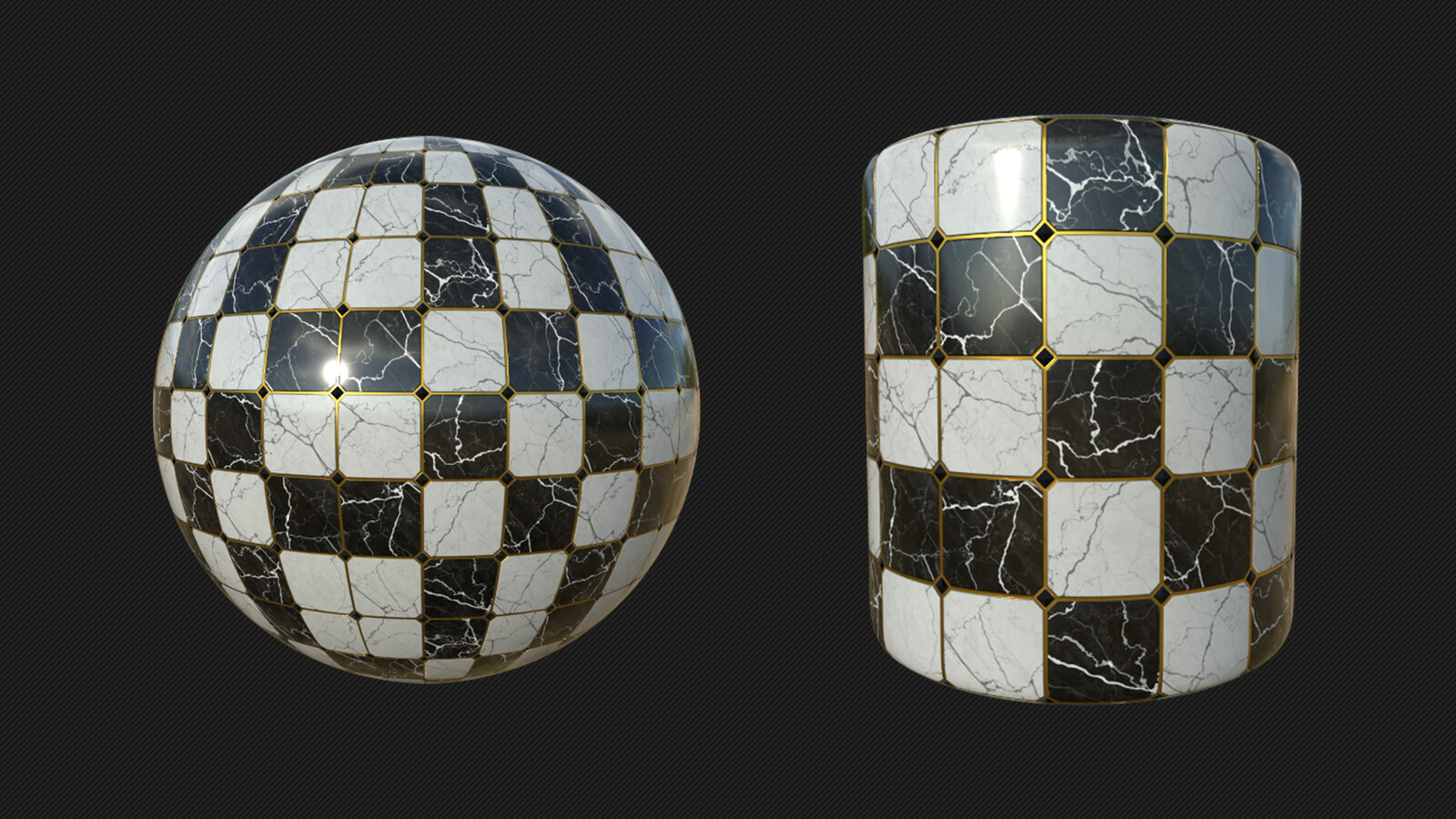 designer texture on different objects