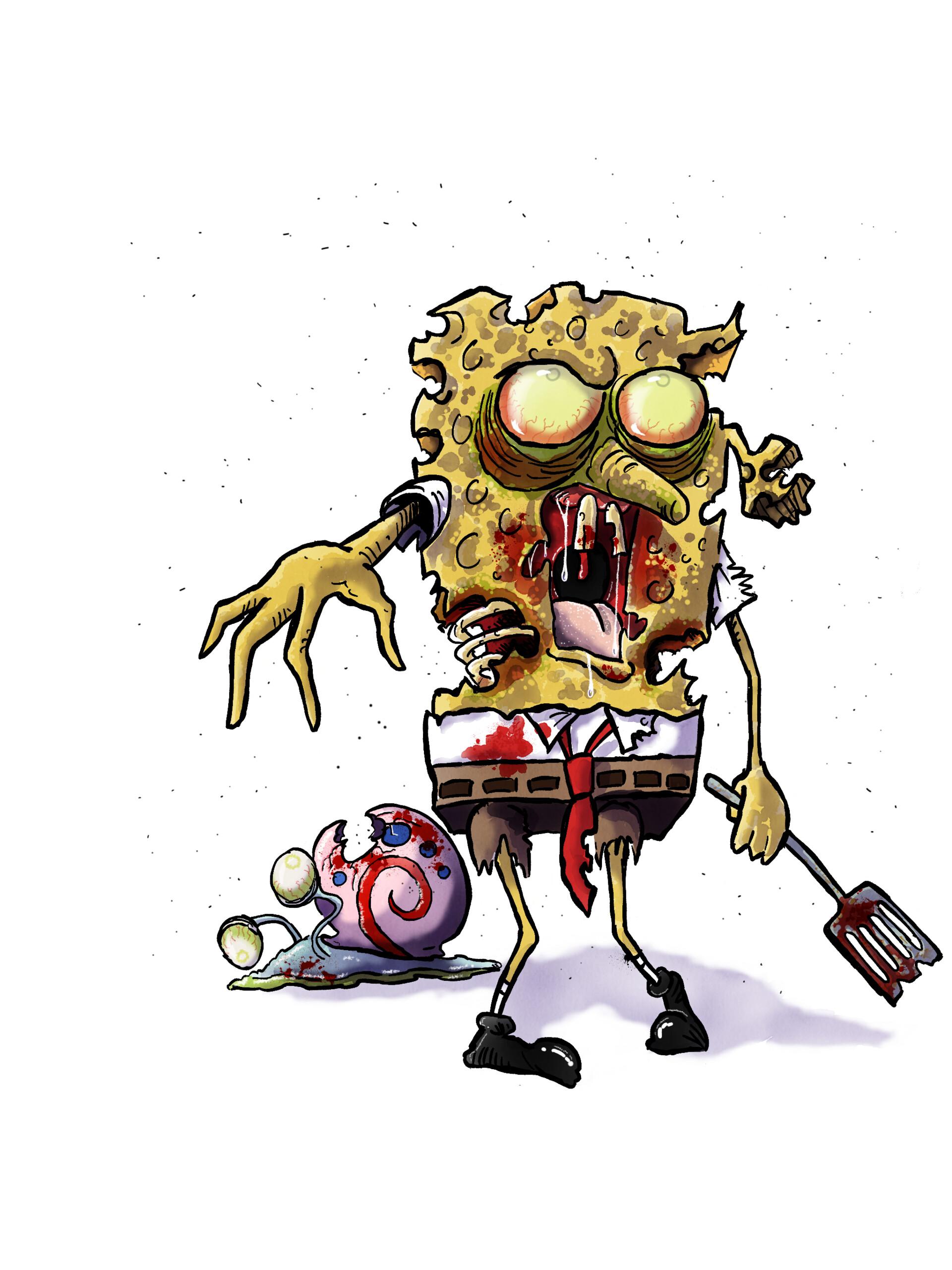 90 Gambar Spongebob Lucu Keren 3D Sedih Zombie