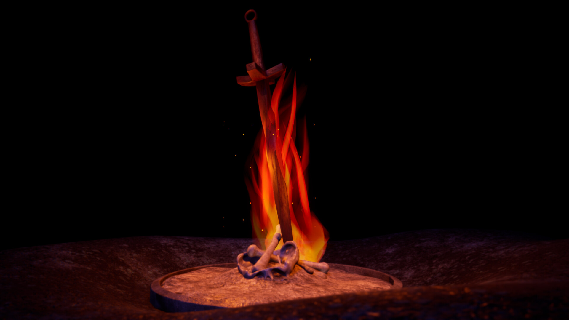 David Fernandez Cid Heat Cold Dark Souls 1 Bonfire Remake