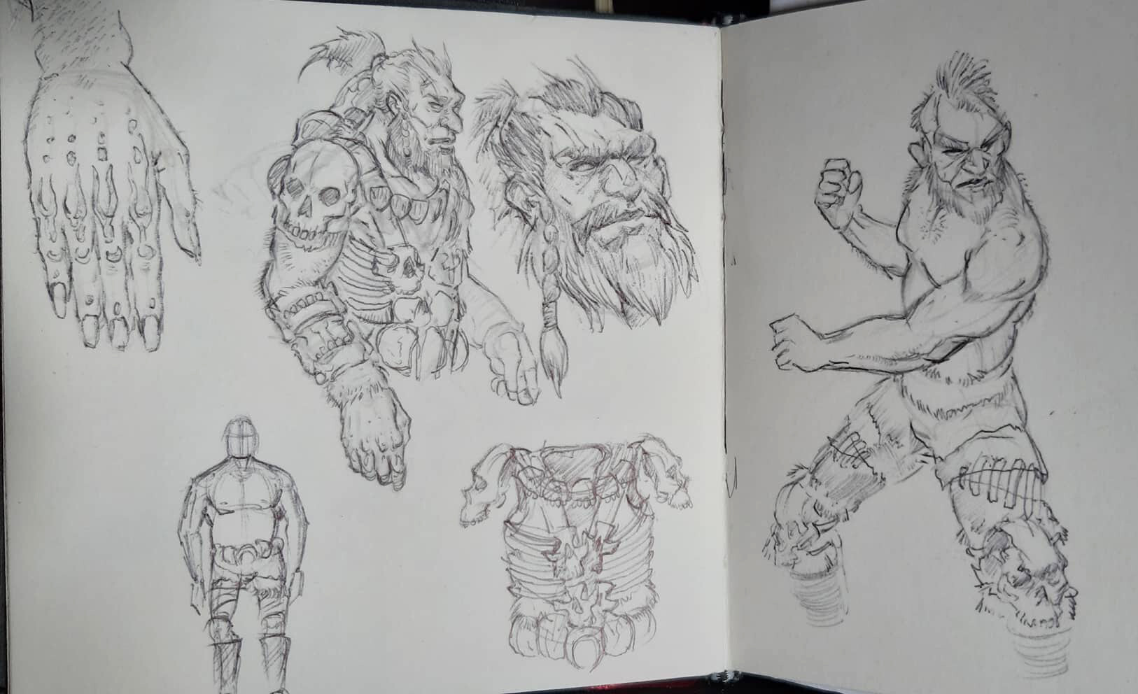 concept sketch on my handy book