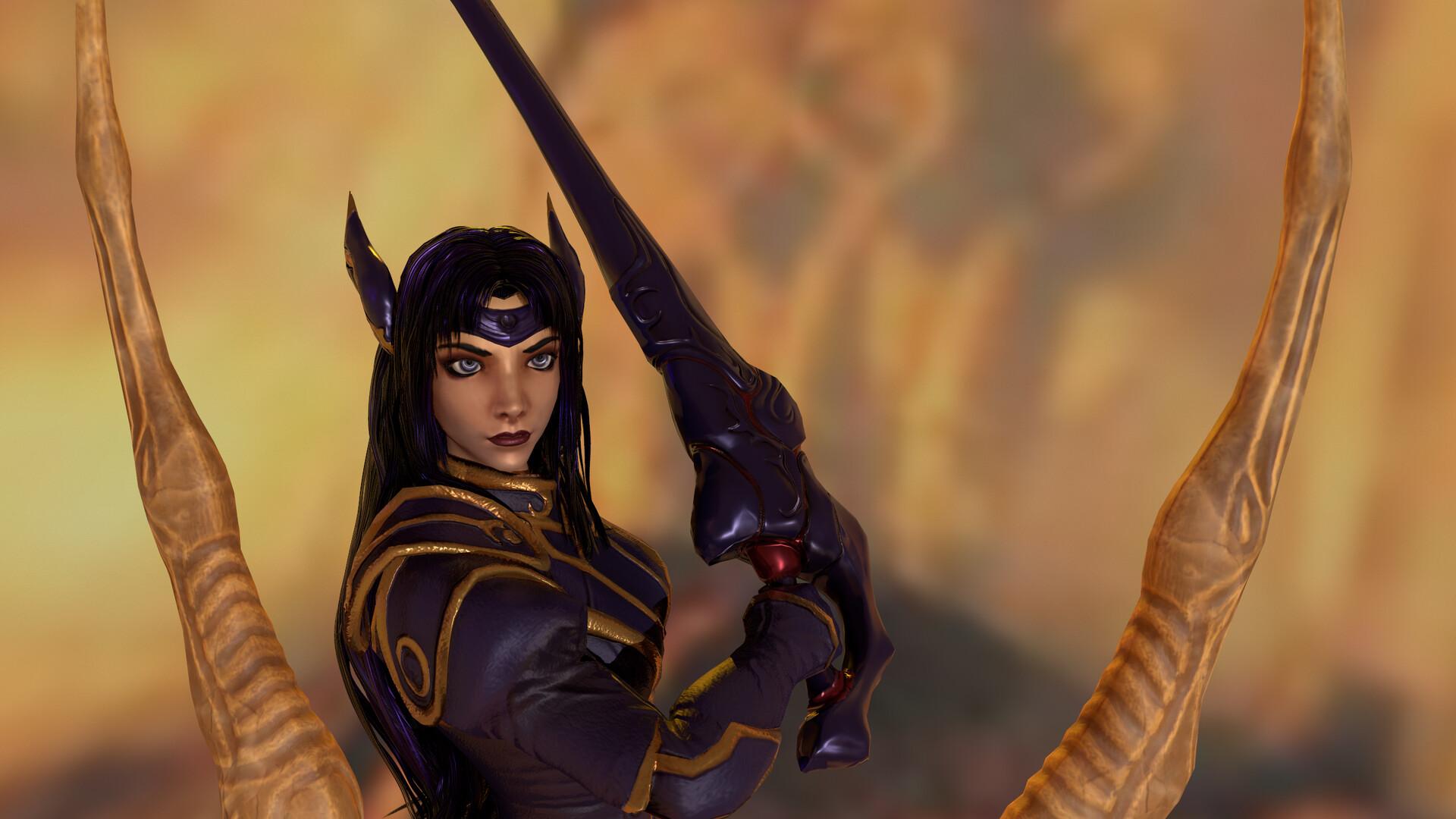 Artstation The Legend Of Dragoon Darkness Warrior Rose