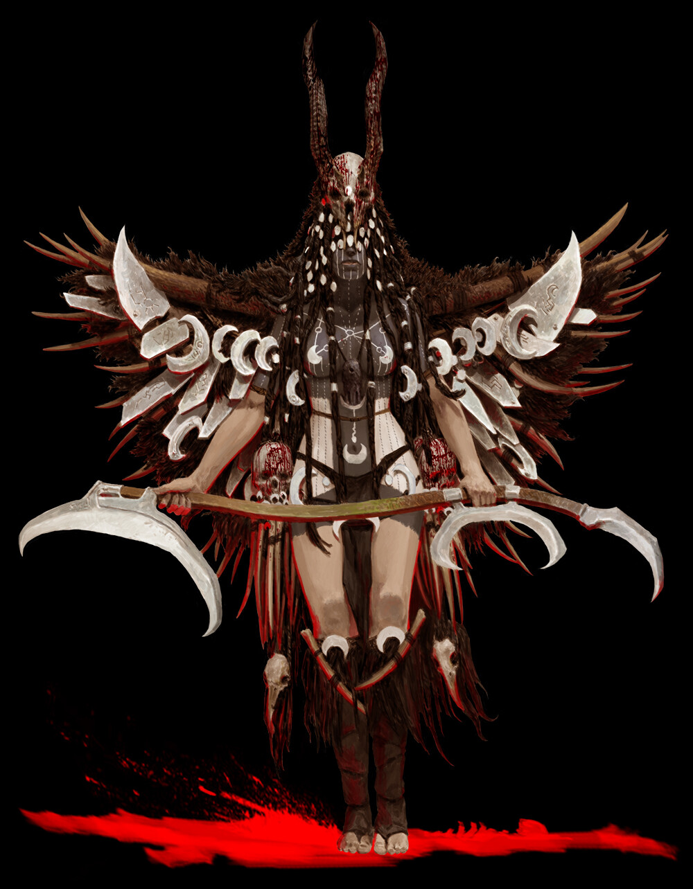 Adrian smith moon tribe shaman coloured
