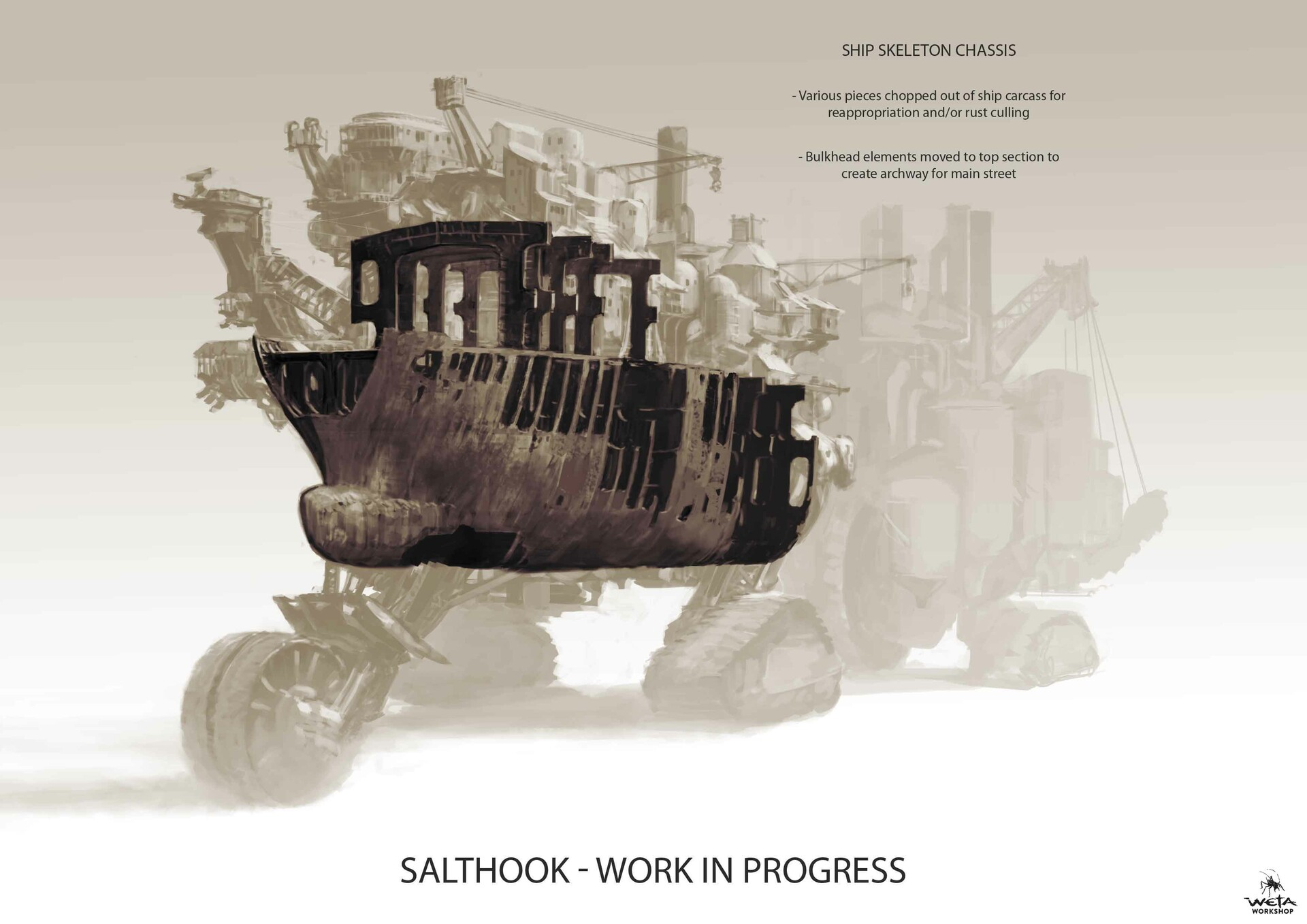 Weta workshop design studio salthook front chassis 2 nk