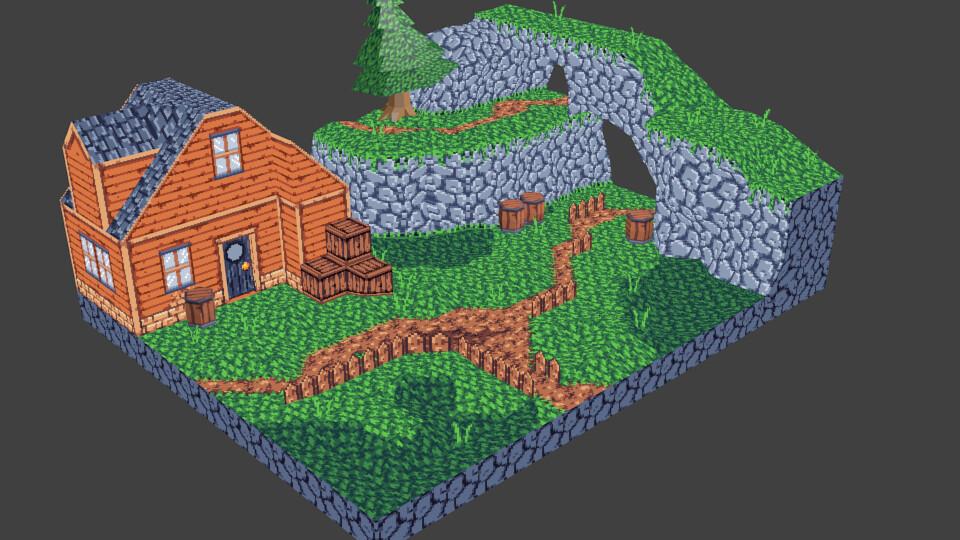 Artstation 3d Pixel Art First Attempt Justin Mcclure