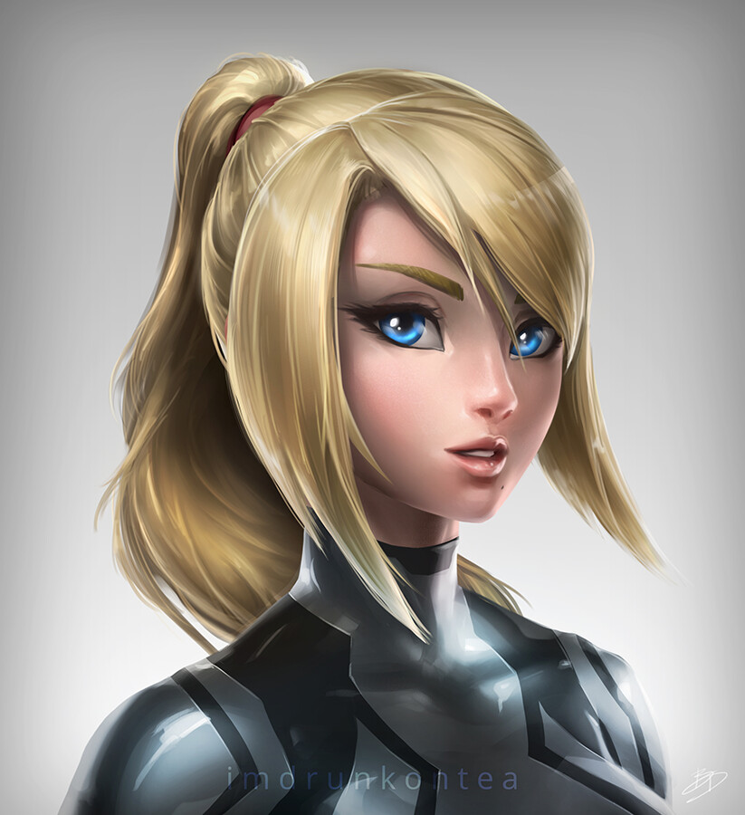 Brandon dunn zs samus portrait black final web