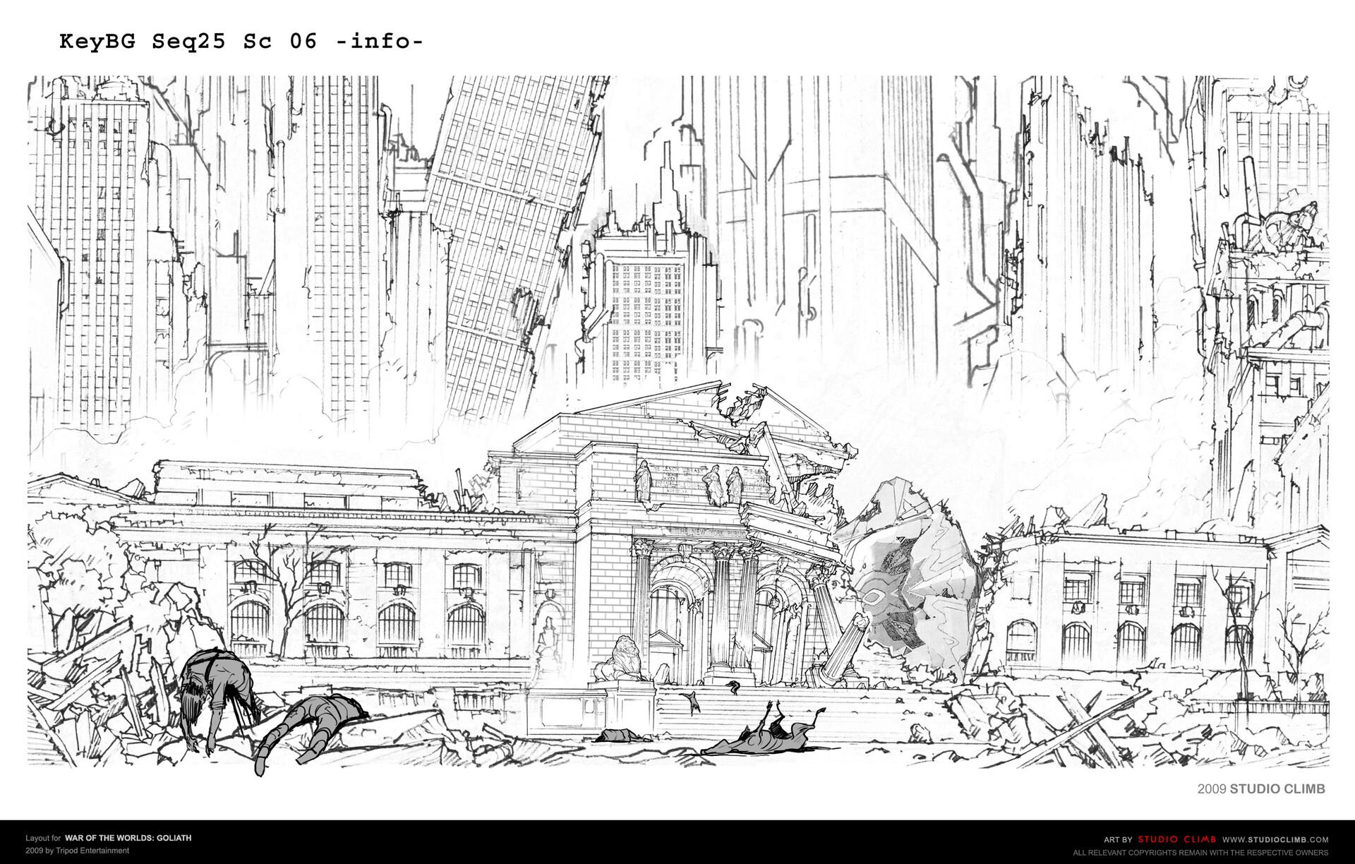 ArtStation - Layout design for War Of The Worlds : Goliath, Studio Climb