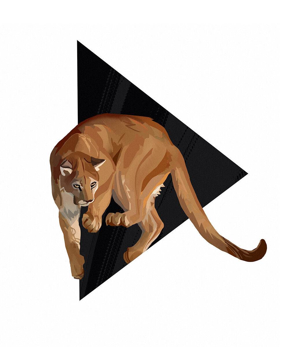 Hugo puzzuoli mountain lion small