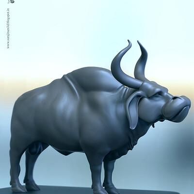 Surajit sen ancient bull body digital sculpt surajitsen feb2019