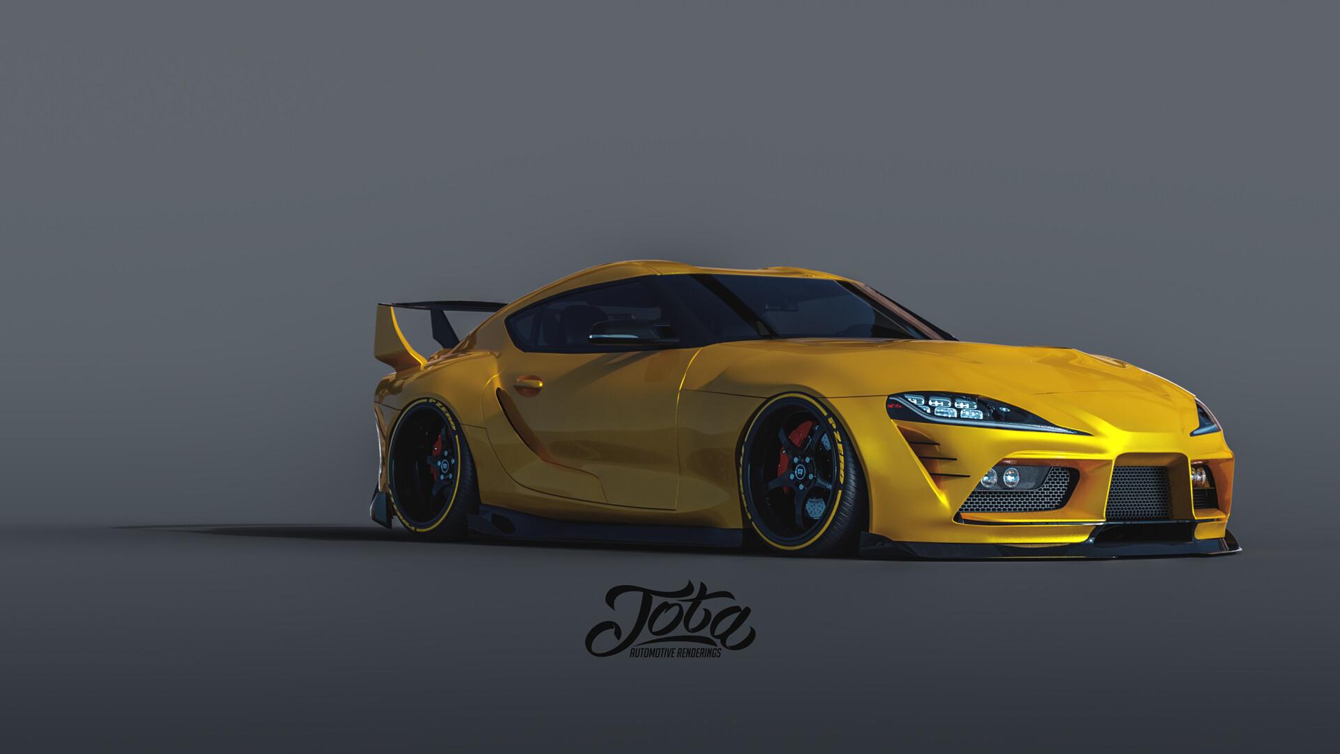 Artstation Toyota Supra 2020 Custom Aero Package Design