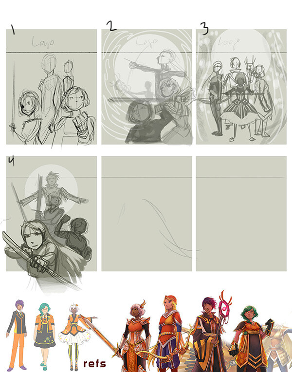Concept sketches for the programming guide cover.