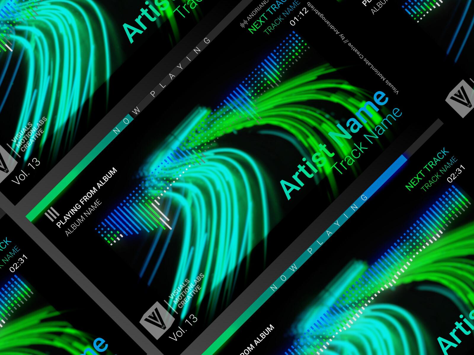 ArtStation - Audio Spectrum / Music Visualizer Concept S13
