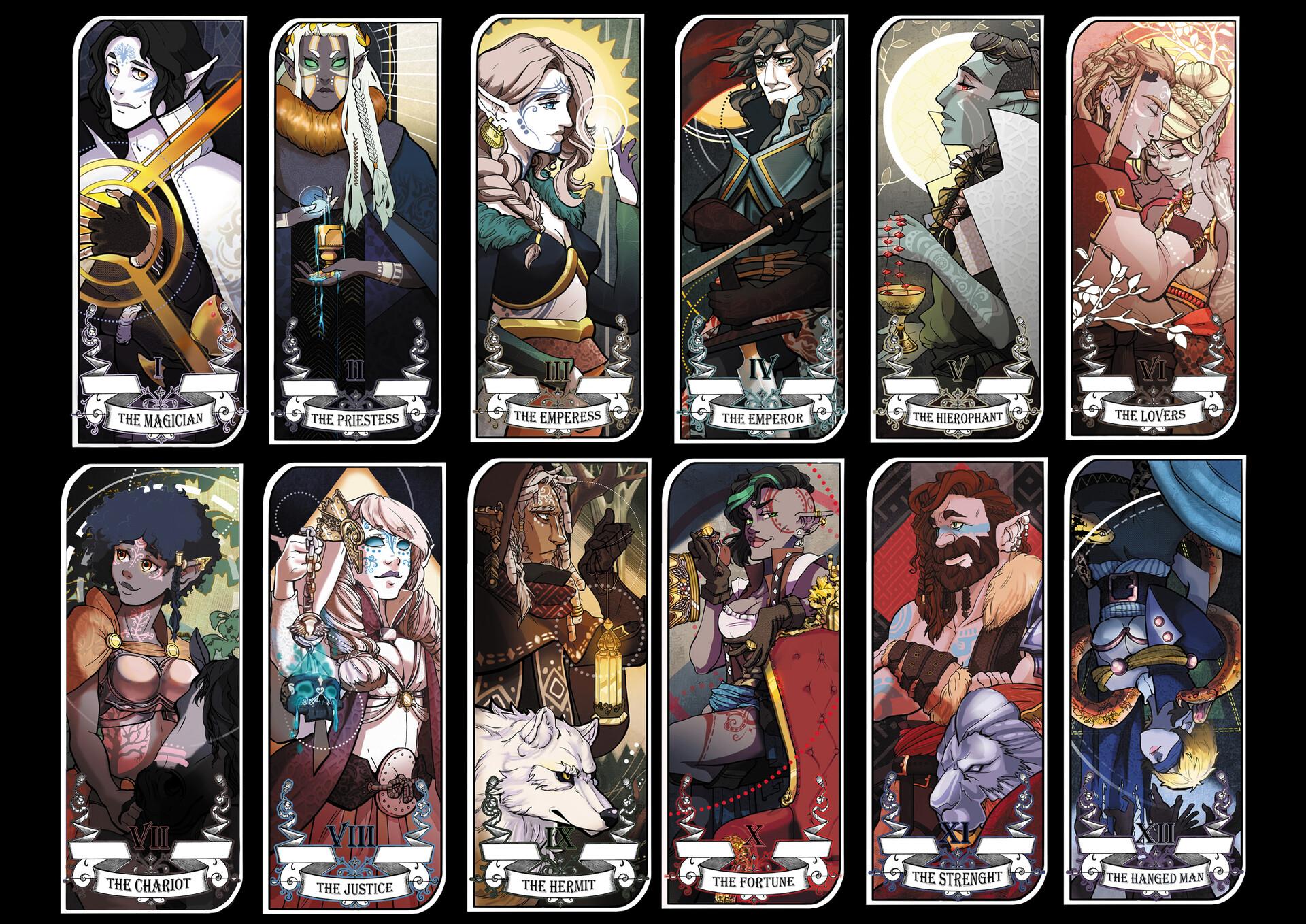 Artstation Carte De Tarot Partie 1 Ayslinn Serathia