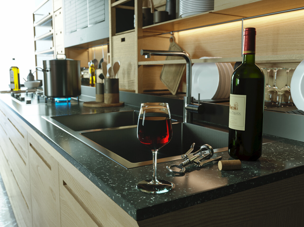 ArtStation - Valcucine kitchen, - photosynthèse 3D -