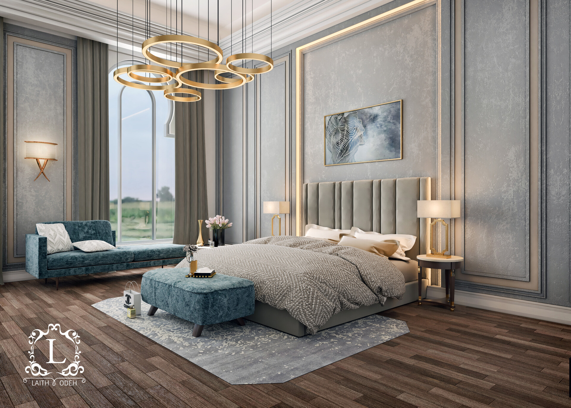 Artstation Luxurious Bedroom Sketchup V Ray Laith Odeh