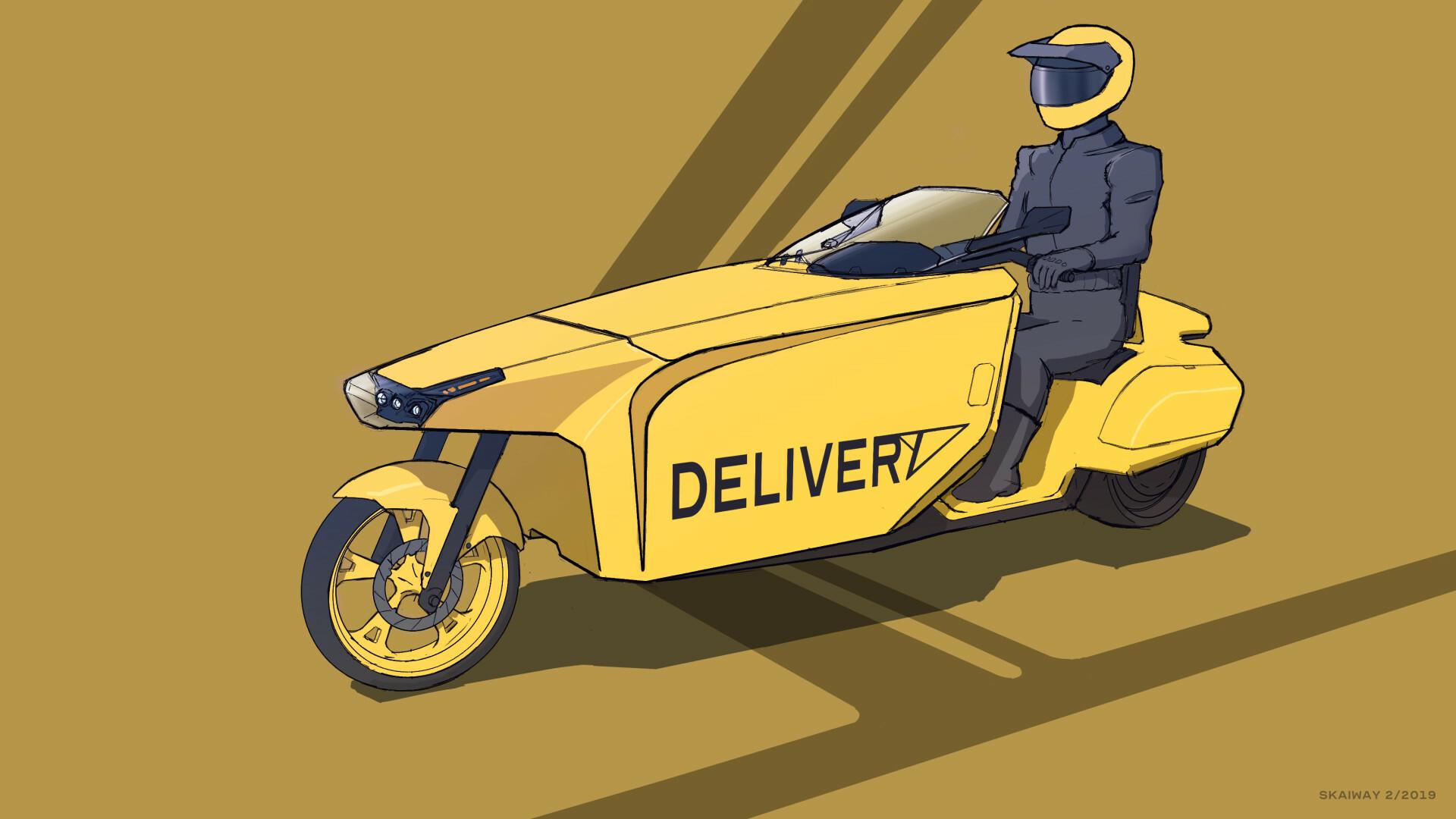 Skaiway deliverymotorcycle