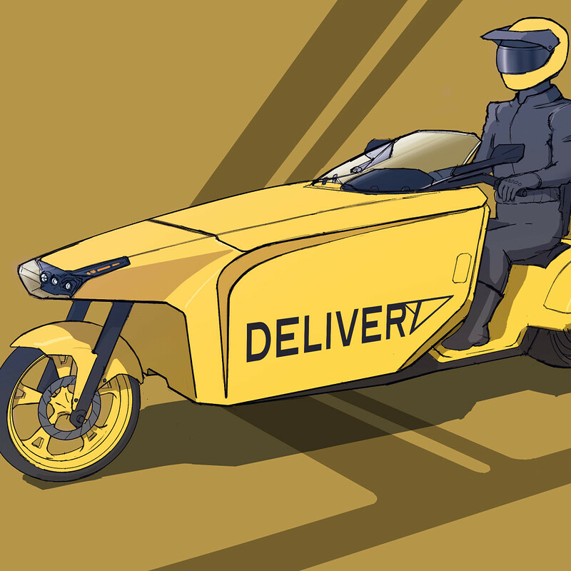 B-N4NA Delivery E-Motorcycle
