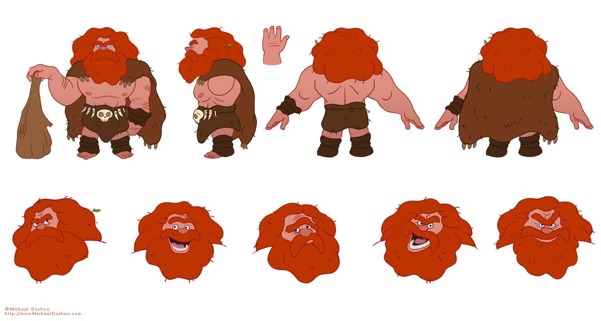 Michael dashow caveman mukamuk model sheet 1200x700