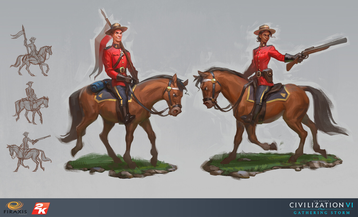 ArtStation - Canadian Mountie (Civilization VI: Gathering Storm