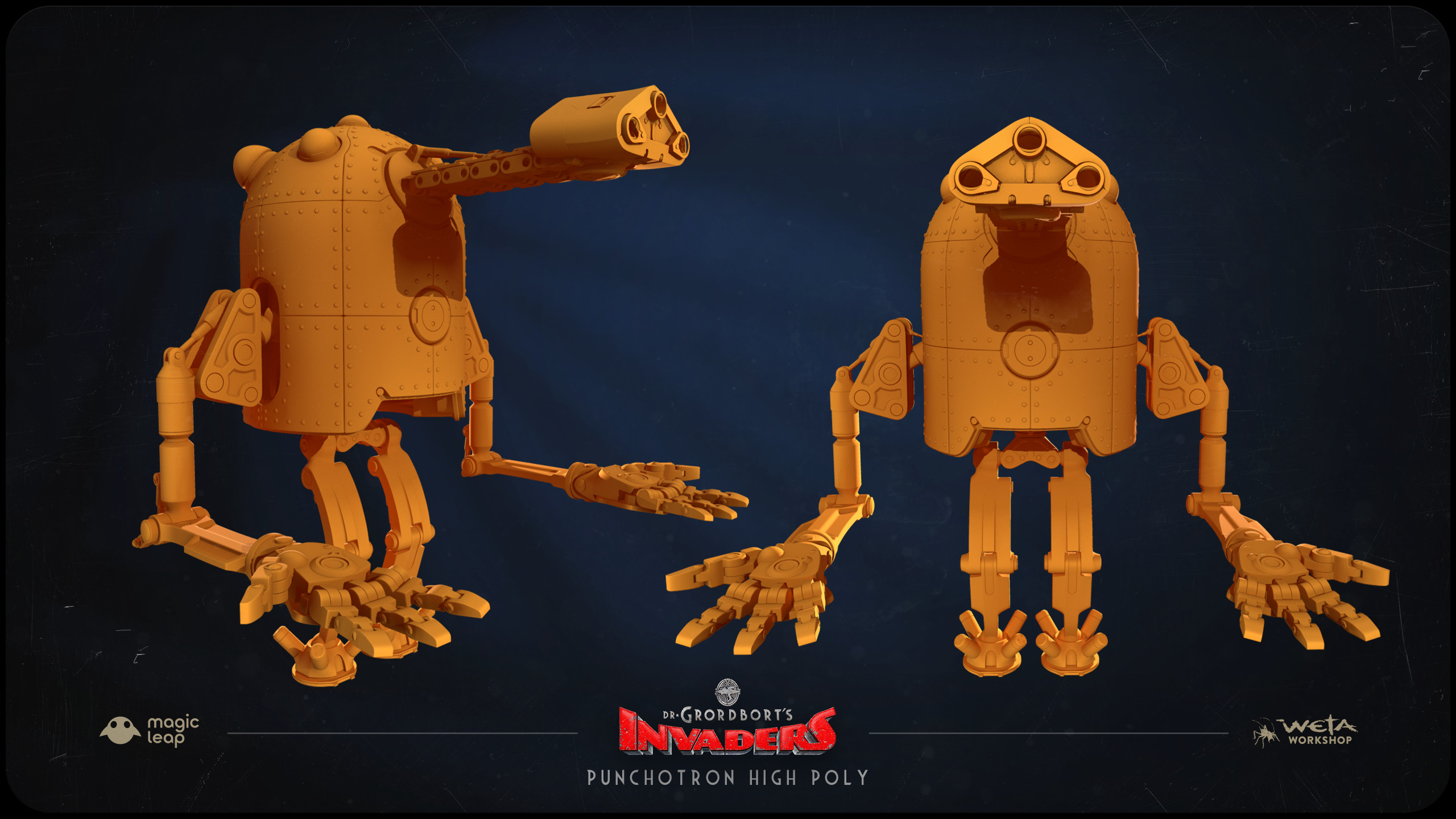 Designs by Greg Broadmore and Stephen Lambert High and Low poly models by Jesse Barratt and Stephen Lambert.