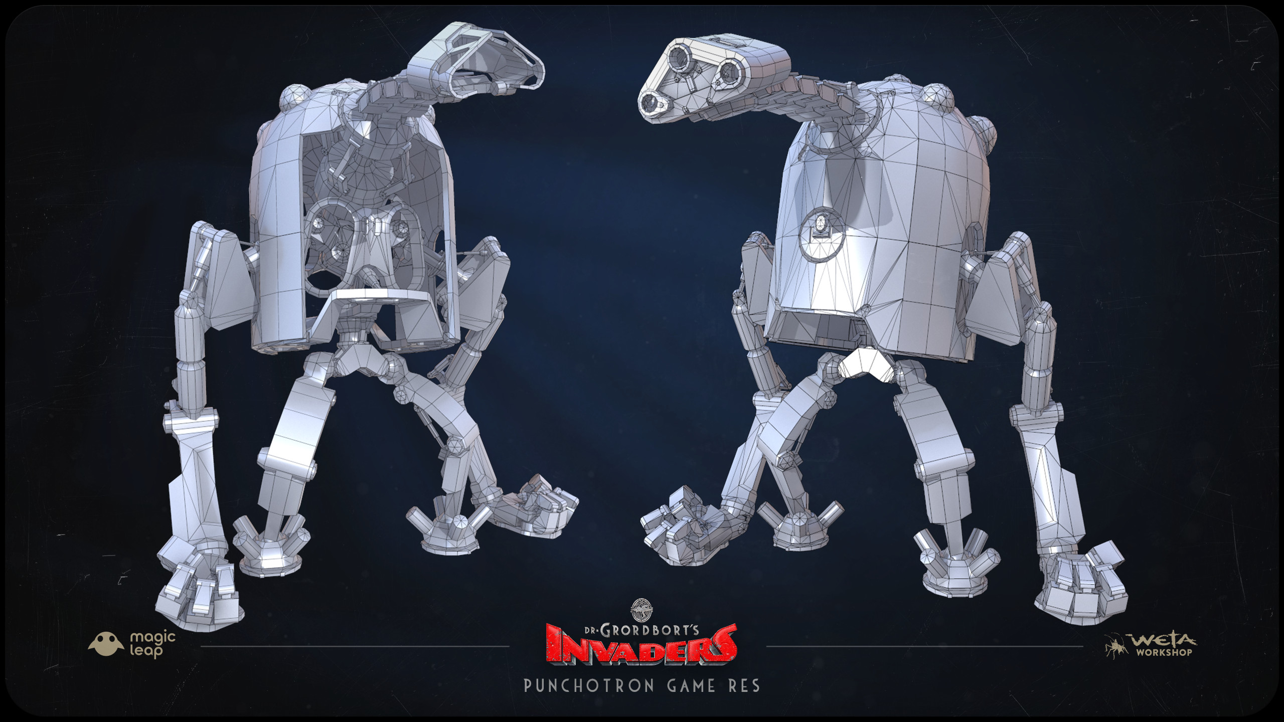 Designs by Greg Broadmore and Stephen Lambert. High and Low poly models by Jesse Barratt and Stephen Lambert.