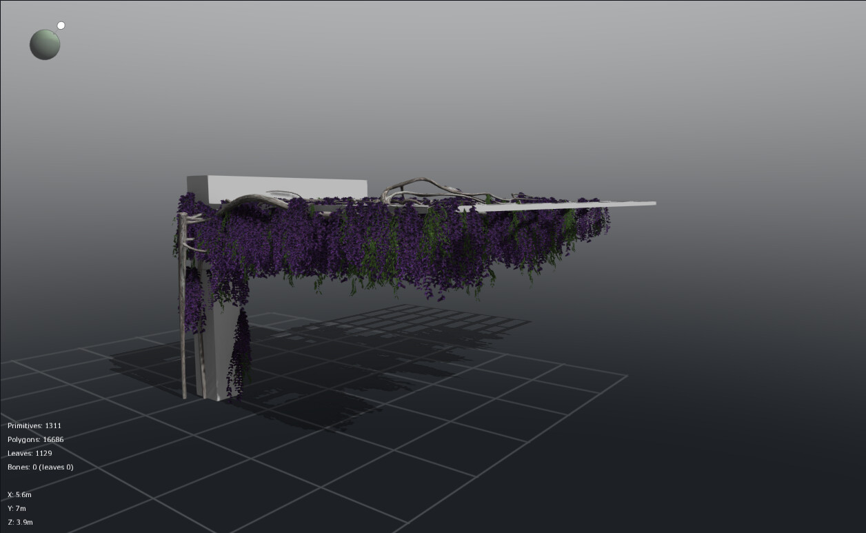 Old work - Wisteria dev in PlantFactory