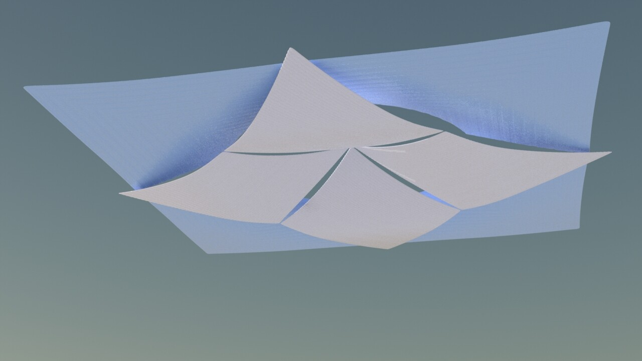 Old work - fabric awning modeling and material dev