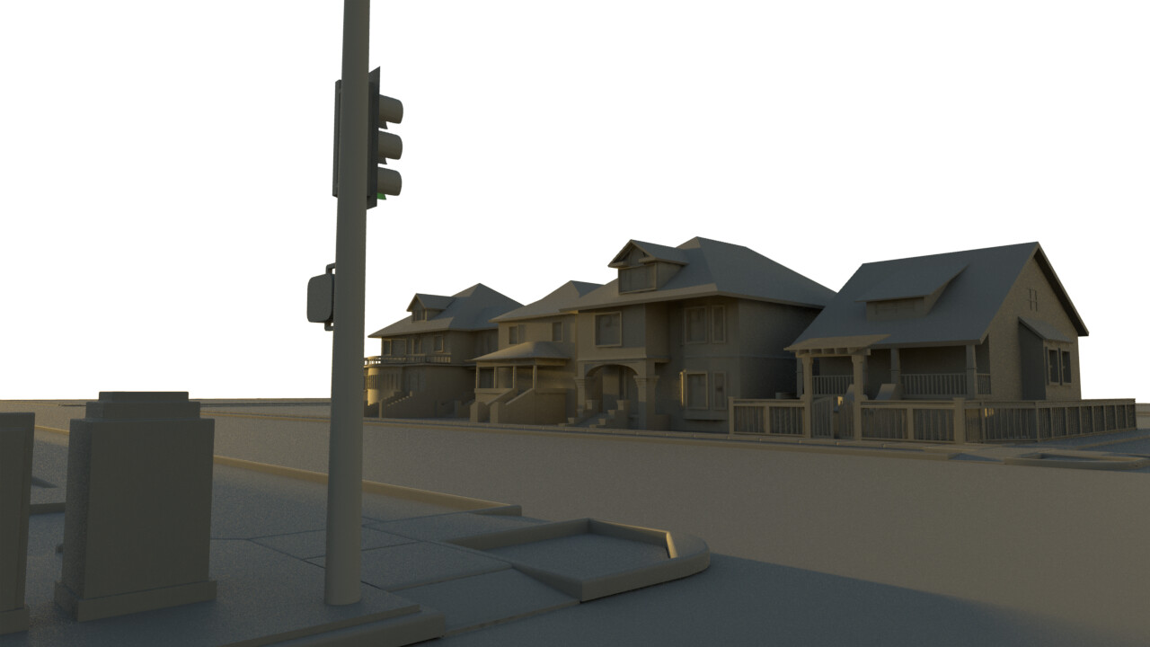 Old work - context massing and streetplate and curb