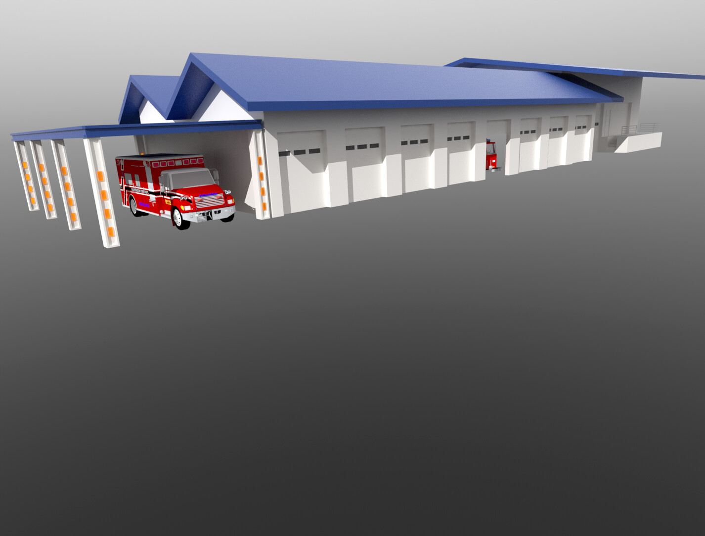 Old work - Calfire project  - basic massing only brief (rough CAD site base: all modeling from photos)
