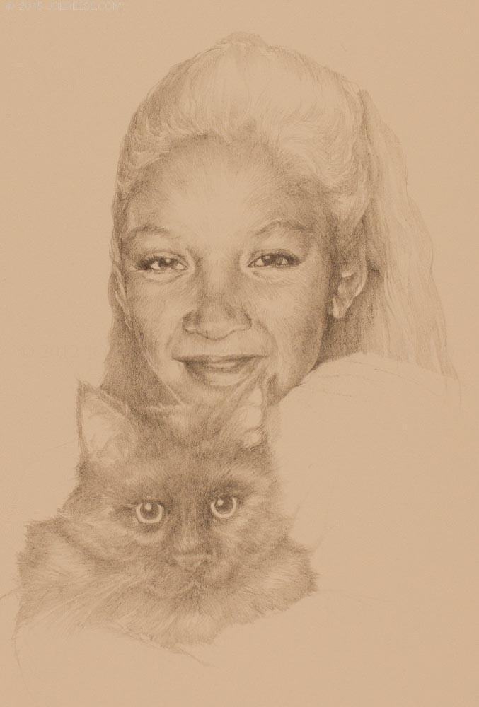 Filha Com Gata