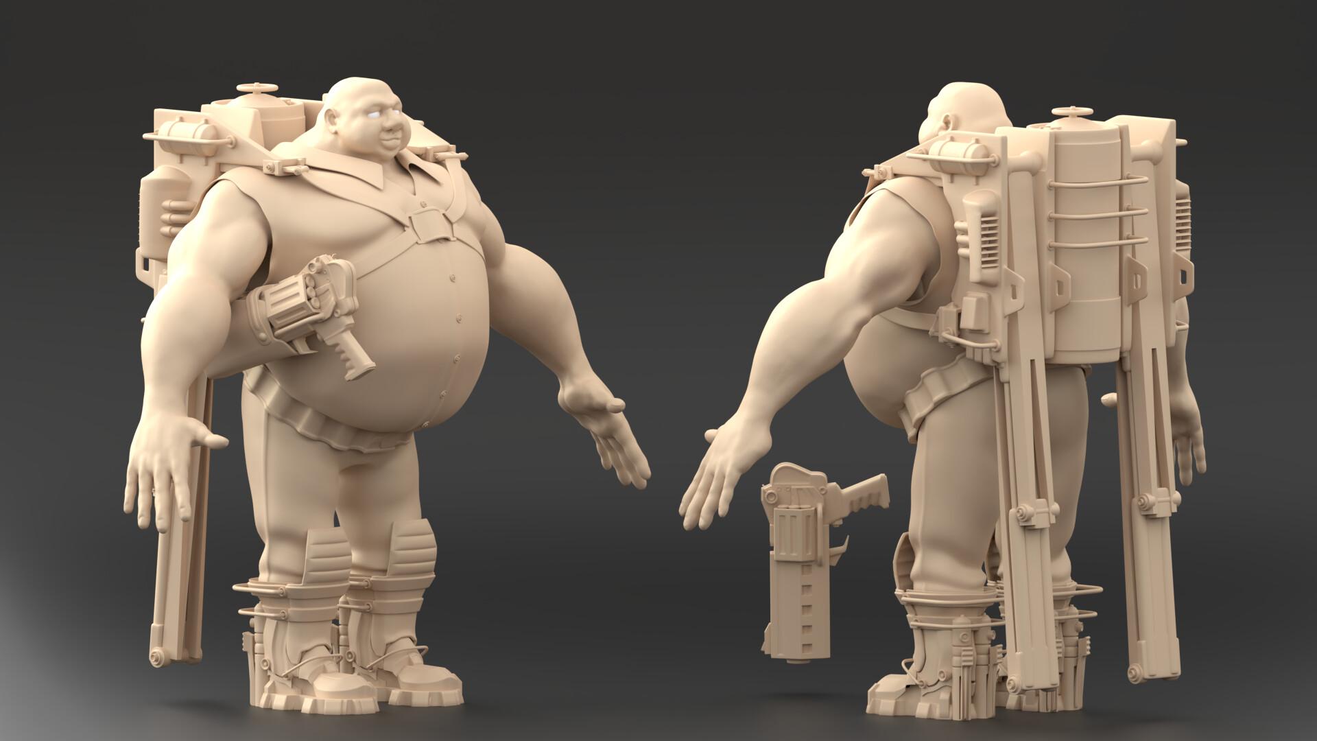 High-poly clay sculpt/model