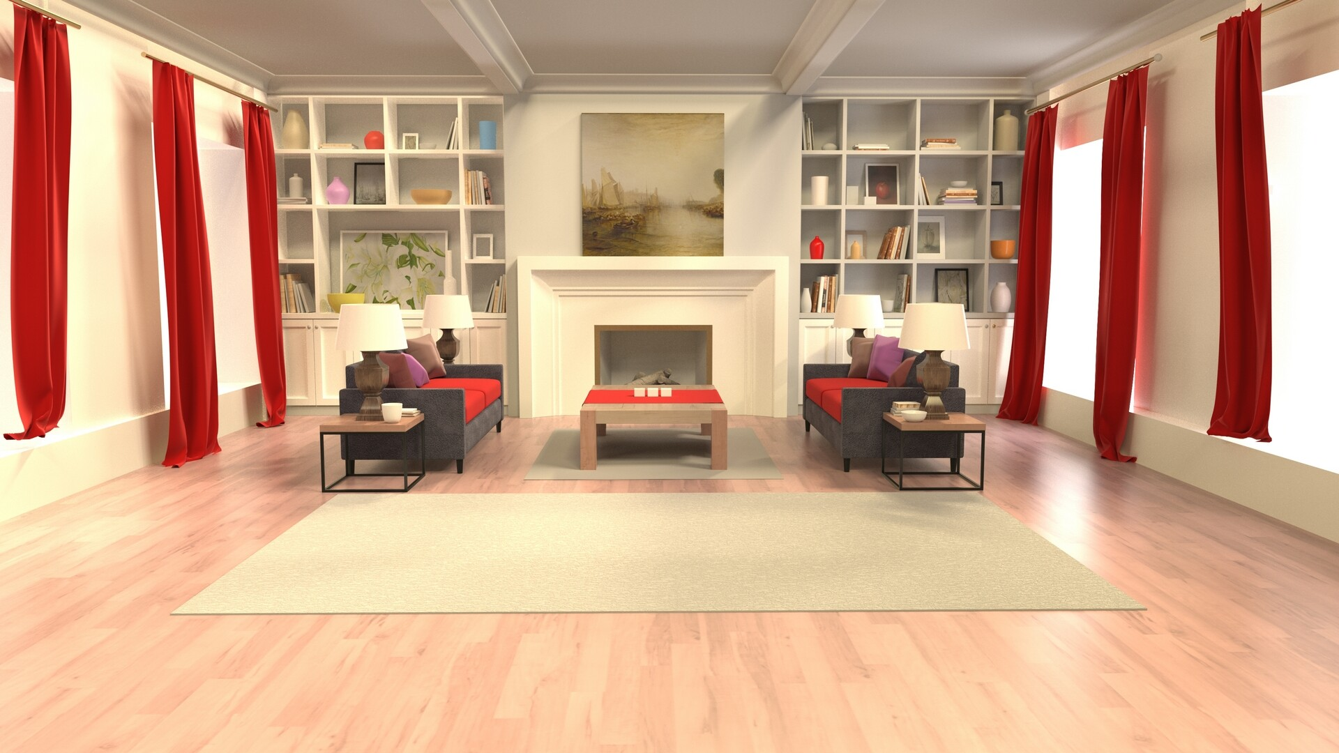 Virtual TV Studio Background - Architectural Rendering/Visualization.